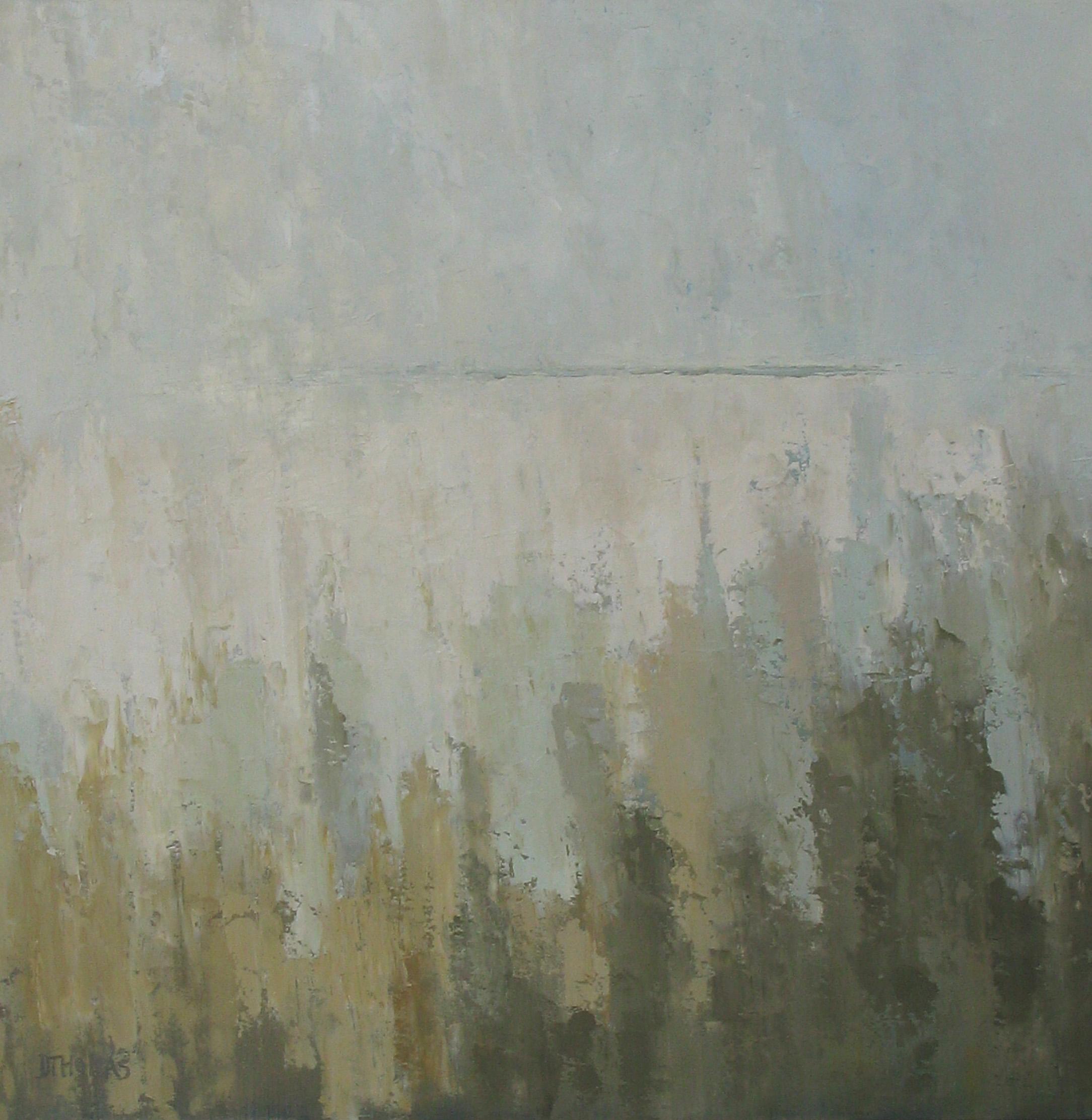 """""""Soft Blue Horizon"""" original fine art by Donna Thomas"""