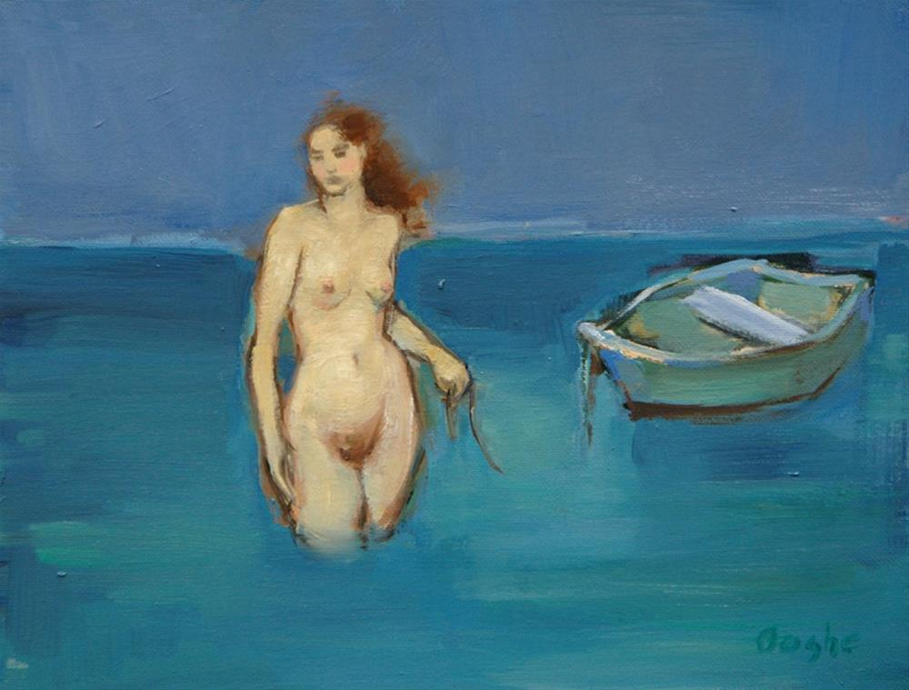 """""""Nude with Boat"""" original fine art by Angela Ooghe"""