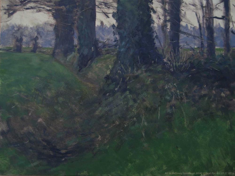 """""""Along the Hulleweg Gaanderen, The Netherlands"""" original fine art by René PleinAir"""
