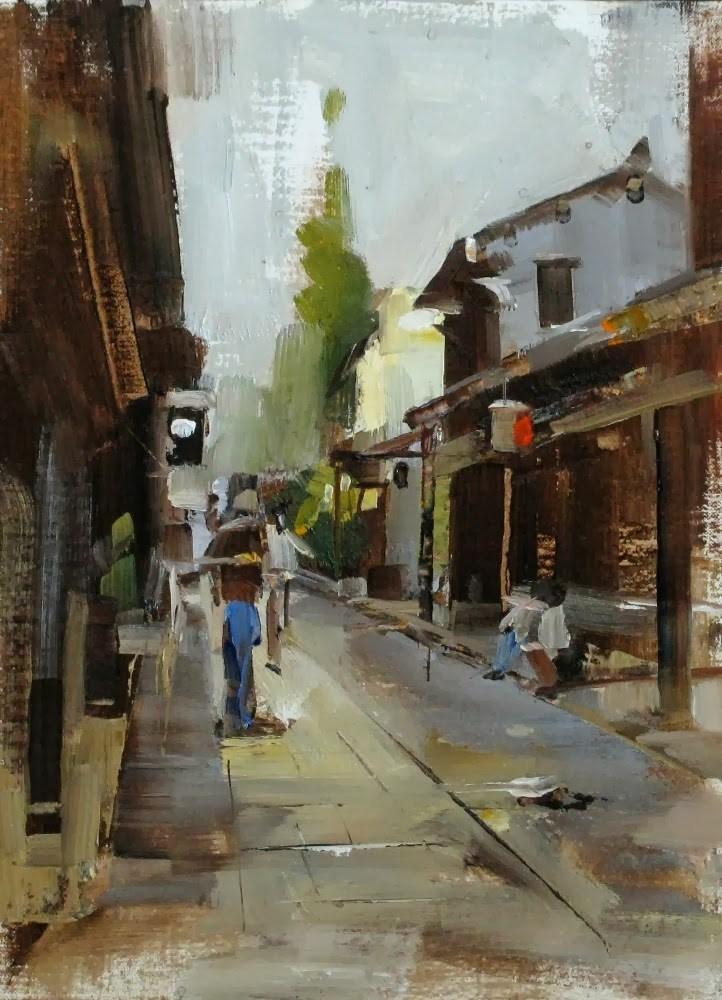 """""""Zhouzhuang Afternoon"""" original fine art by Qiang Huang"""