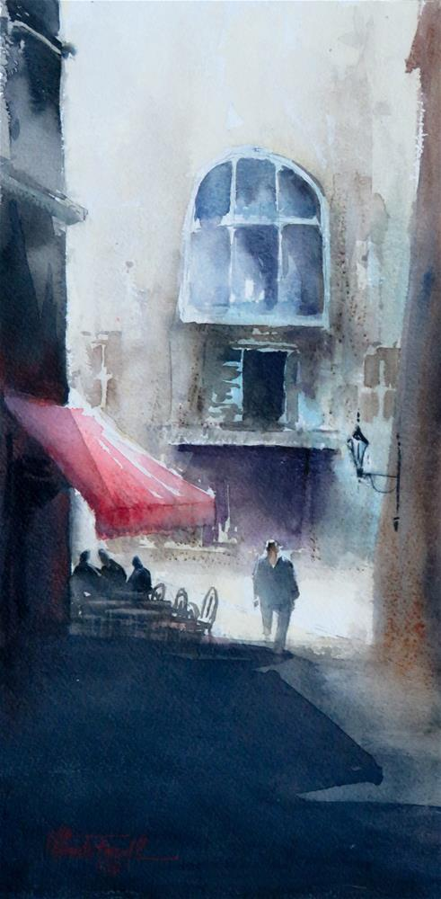 """""""The Red Awning"""" original fine art by Christa Friedl"""