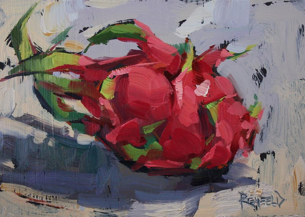 """Dragonfruit"" original fine art by Cathleen Rehfeld"