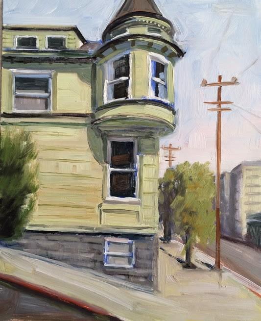"""""""Green House"""" original fine art by Deborah Newman"""