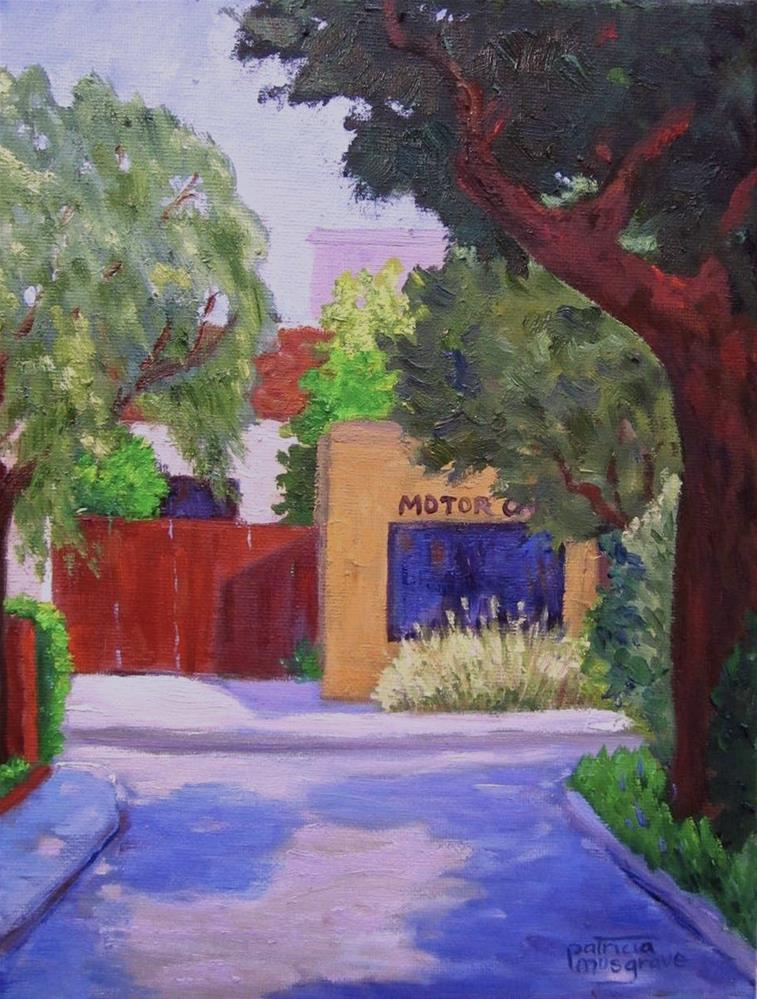 """Motor Car Tune Up"" original fine art by Patricia Musgrave"