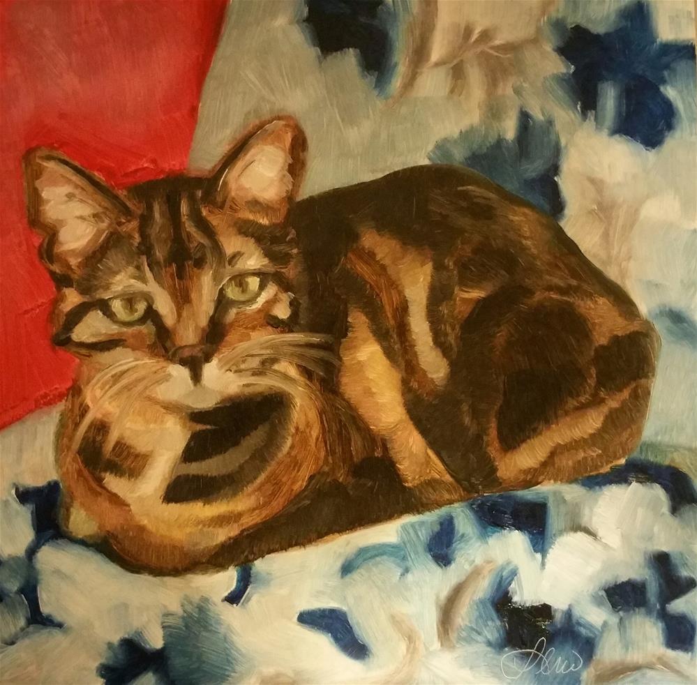 """Compact Kitty"" original fine art by Leni Tarleton"
