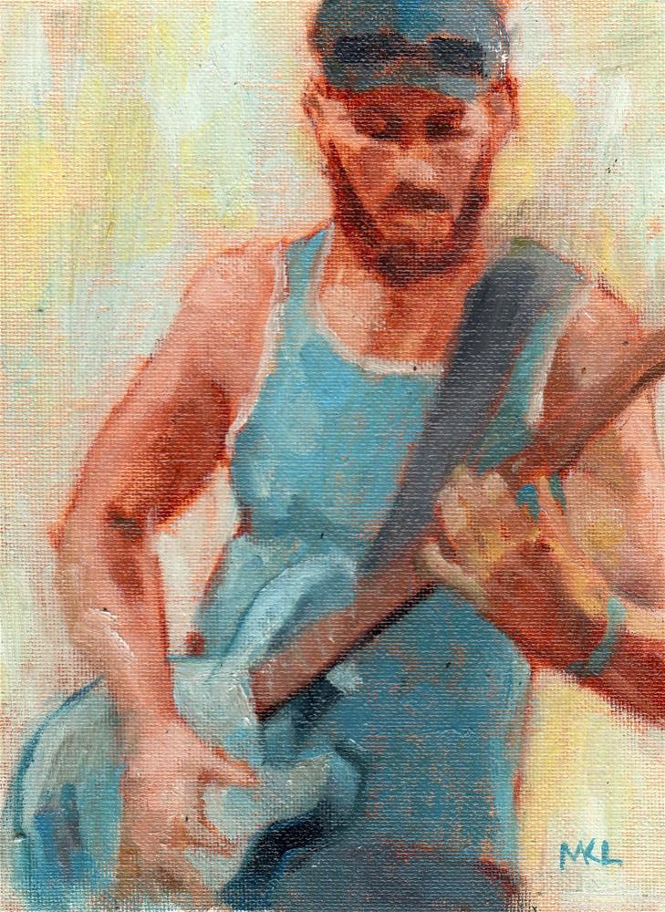 """Guitar Man"" original fine art by Marlene Lee"