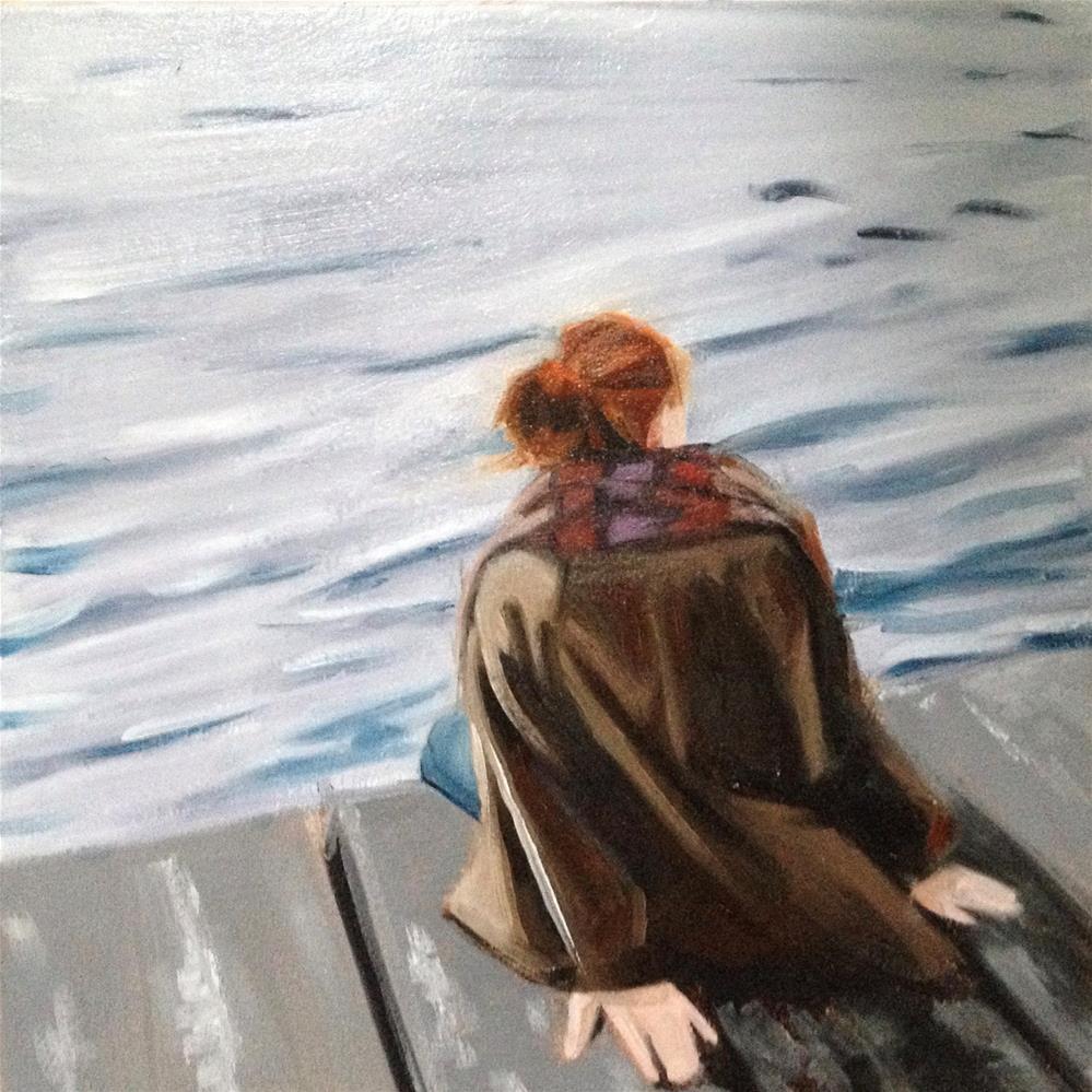 """""""Quiet on Dock"""" original fine art by Bev Thibault"""