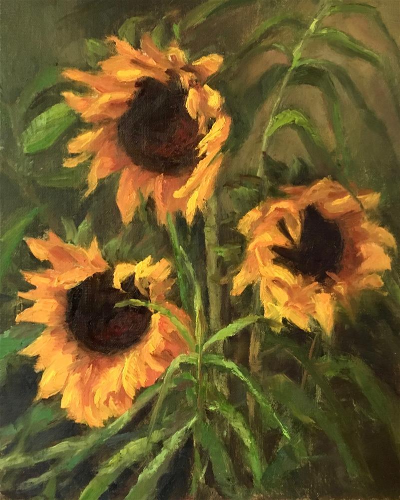 """Sunny Faces"" original fine art by Nancy Wahl"