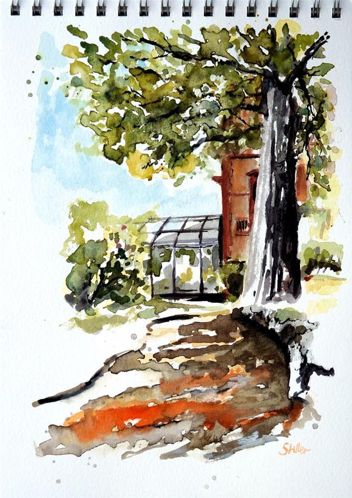"""2856 Rettershof Back Yard"" original fine art by Dietmar Stiller"