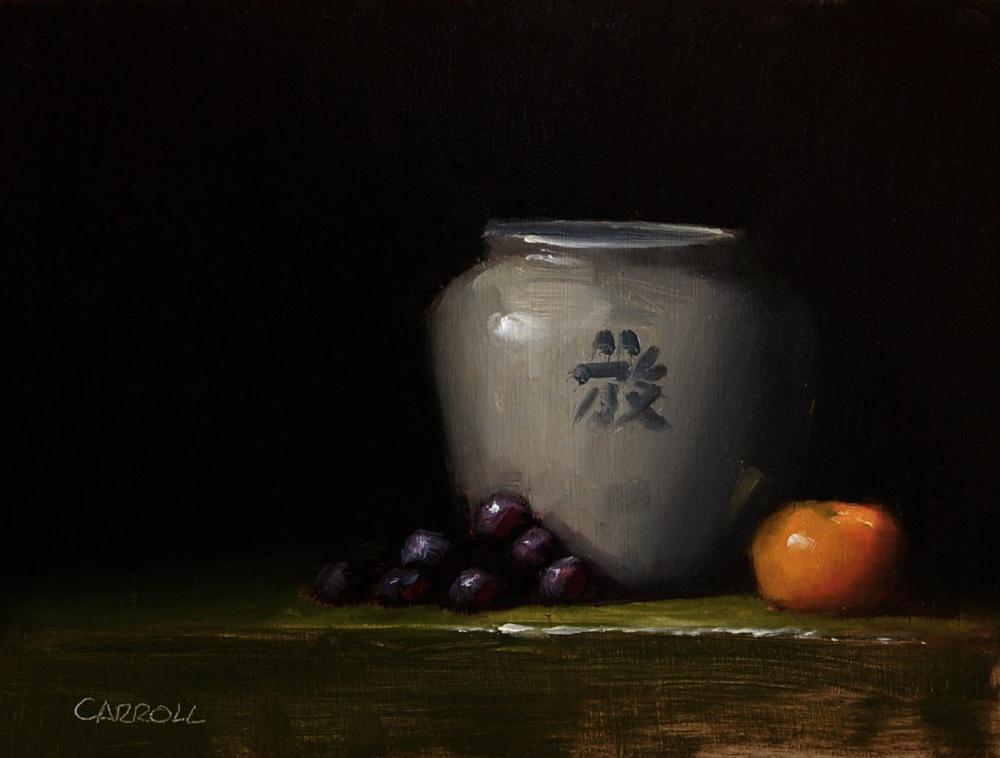 """""""Chinese Pot"""" original fine art by Neil Carroll"""
