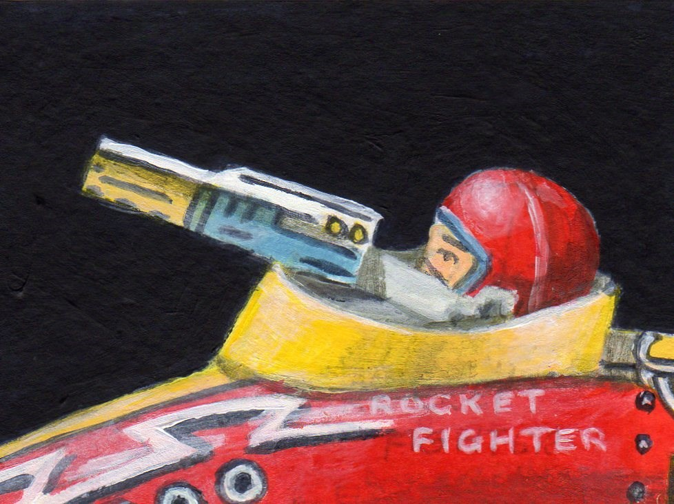 """Mini Rocket Fighter"" original fine art by Debbie Shirley"