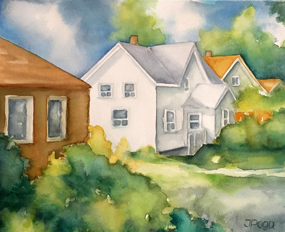 """Next house West"" original fine art by Inese Poga"