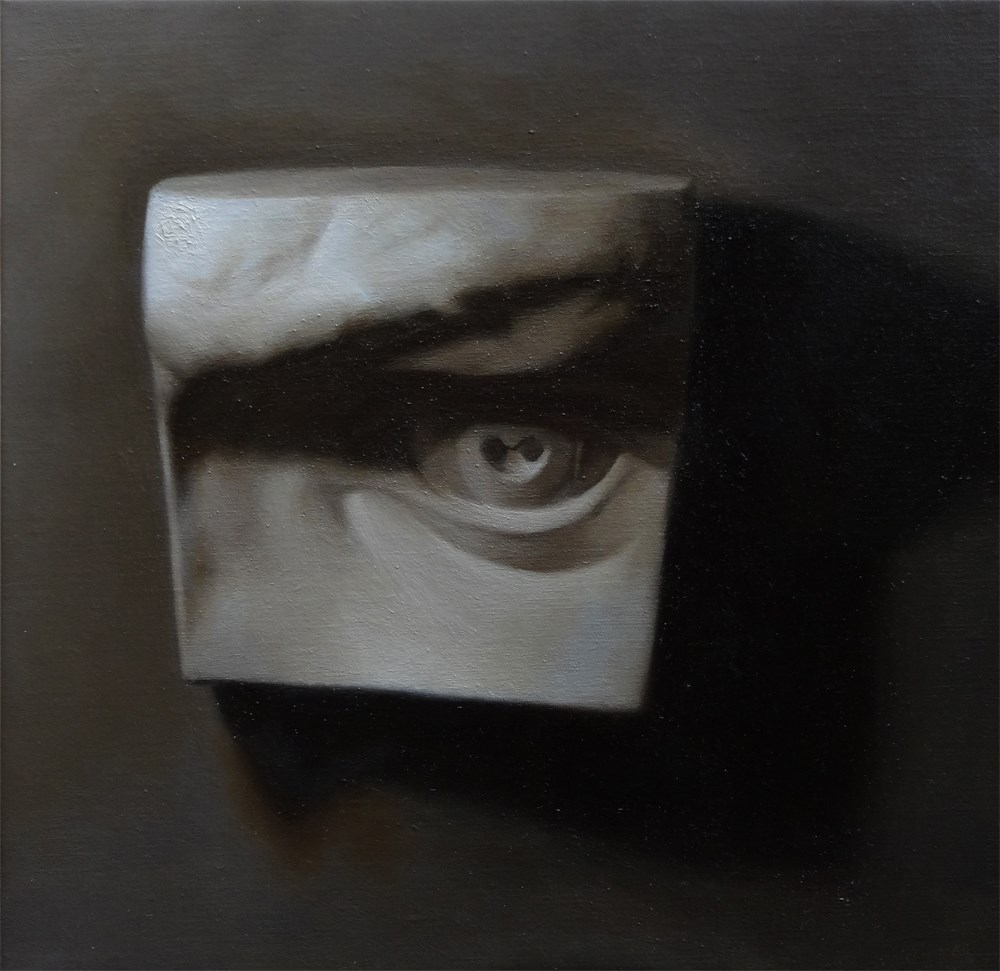 """""""The Beholder - Cast Painting of the Eye of David"""" original fine art by Arena Shawn"""