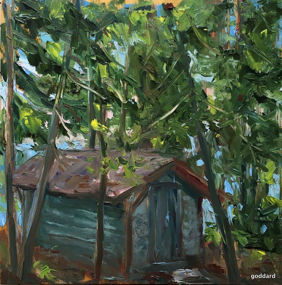 """Bathhouse"" original fine art by Shari Goddard Shambaugh"