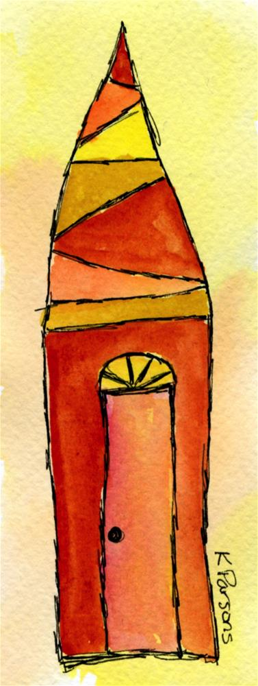 """""""Tall Pointed House"""" original fine art by Kali Parsons"""