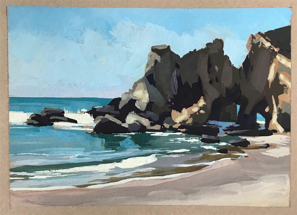 """Pfeiffer Beach"" original fine art by Sharon Schock"