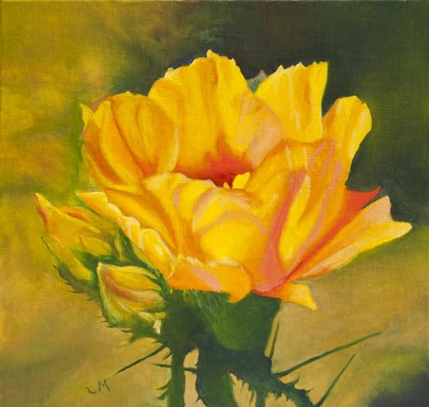 """Sunshine"" original fine art by Linda Mann"
