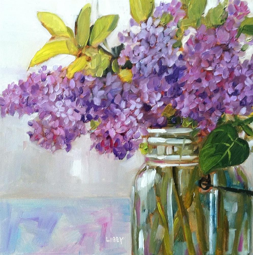 """""""Lilac and Leaves"""" original fine art by Libby Anderson"""