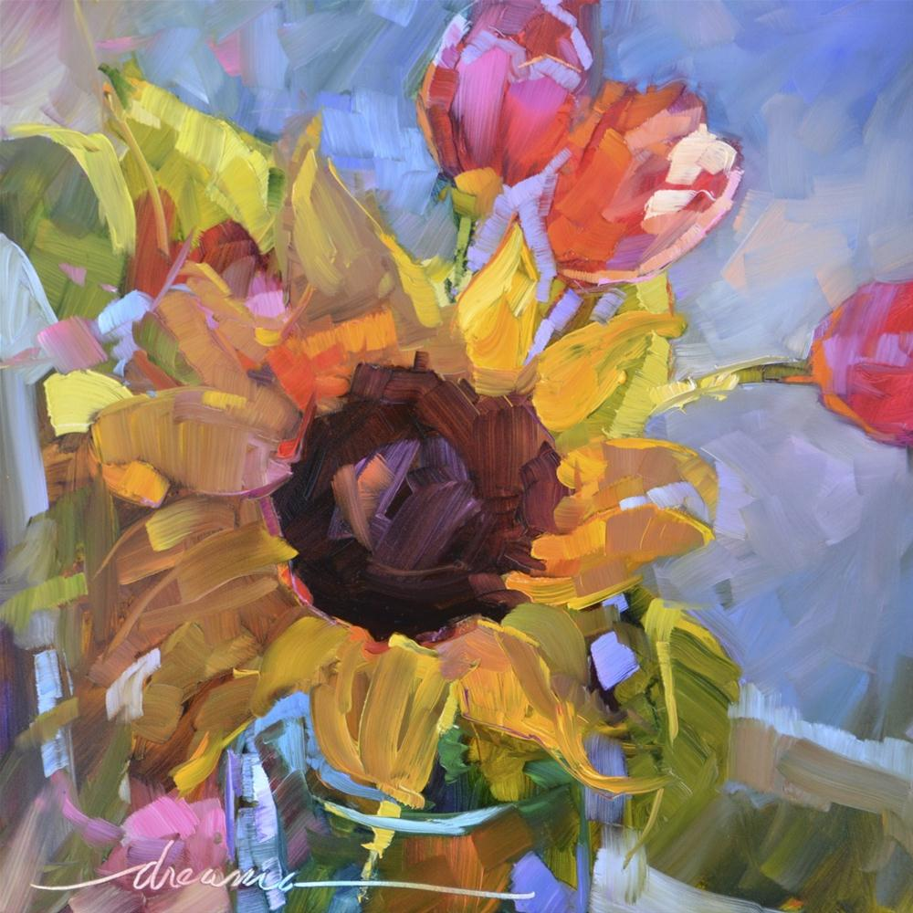 """""""All Aglow  SOLD"""" original fine art by Dreama Tolle Perry"""
