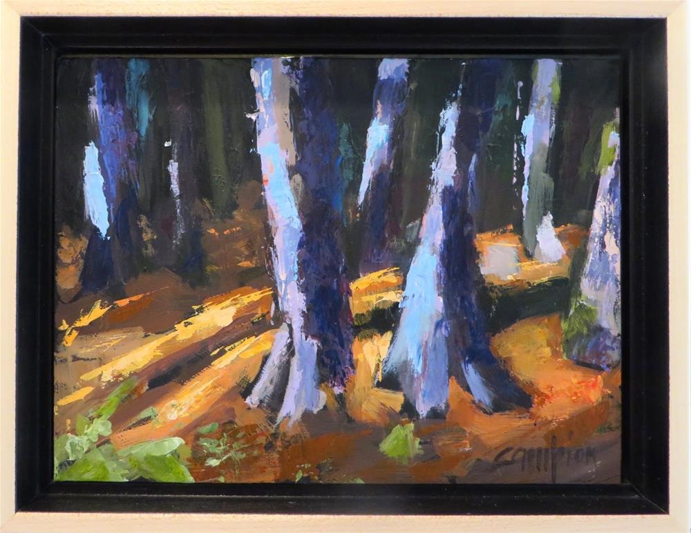 """853 White Cedar Forest, Sunset Trail, Peninsula State Park"" original fine art by Diane Campion"