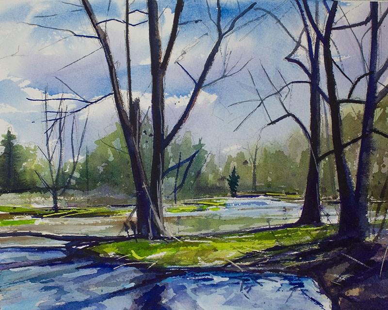 """Amherst State Park"" original fine art by Chris Breier"