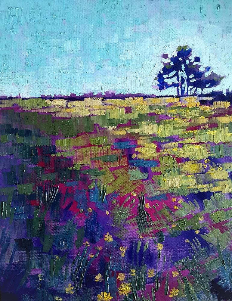 """""""Dandelion Meadows - Fine Art Oil by Bhavna """" original fine art by Bhavna Misra"""