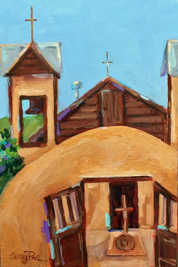 """Santa Fe #17"" original fine art by Suzy 'Pal' Powell"