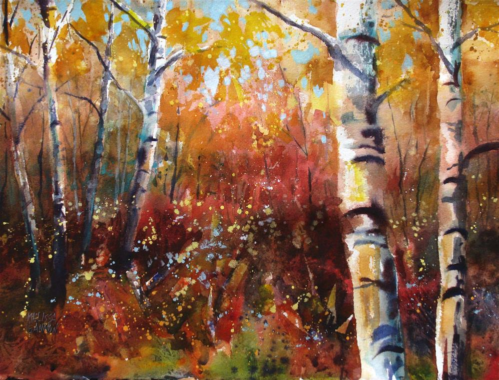"""Woodsy Tangle"" original fine art by Melissa Gannon"