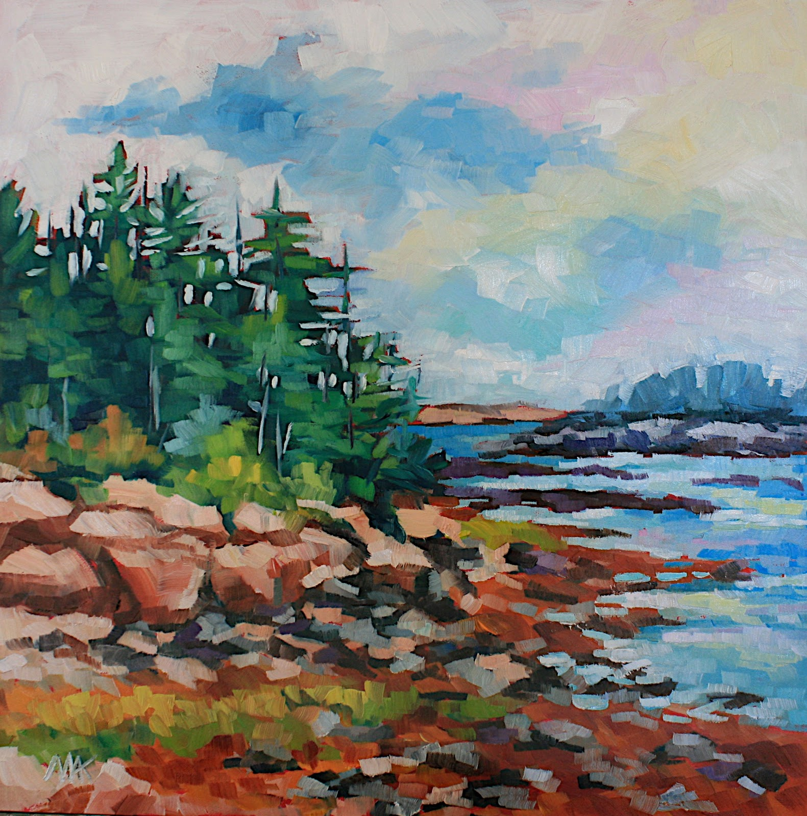 """""""Winter Harbor"""" original fine art by Mary Anne Cary"""