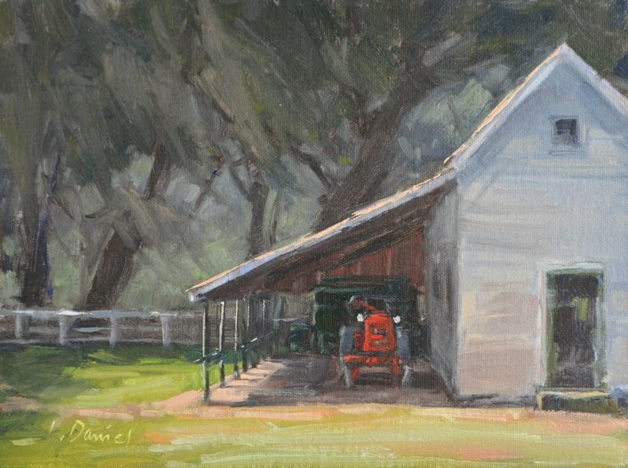 """Vintage Farmstead - Georgia Coast"" original fine art by Laurel Daniel"
