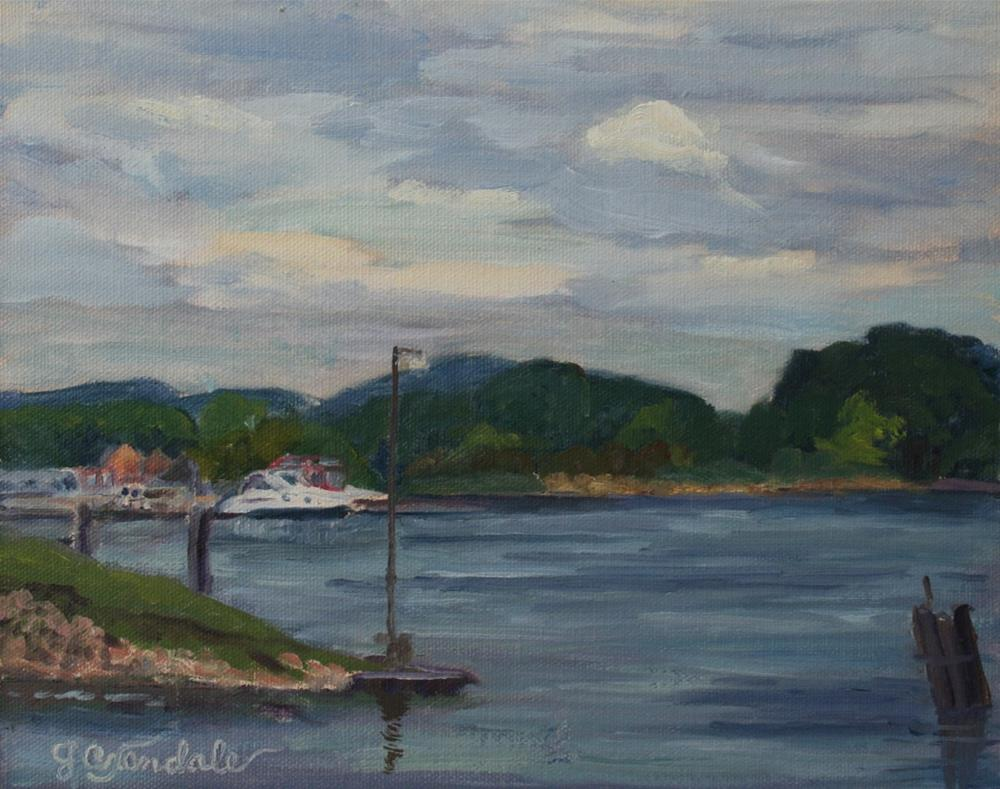 """At Dock"" original fine art by Jan Oxendale"