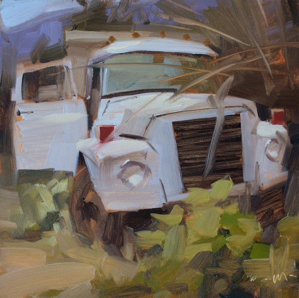 """Ditched"" original fine art by Carol Marine"