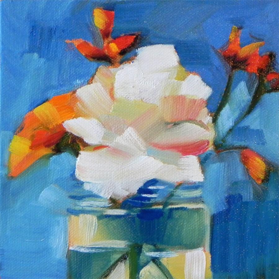 """Flowers in a Jar"" original fine art by Cheryl Wilson"