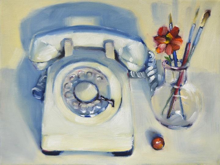 """Red Zinnia"" original fine art by Cheryl Wilson"