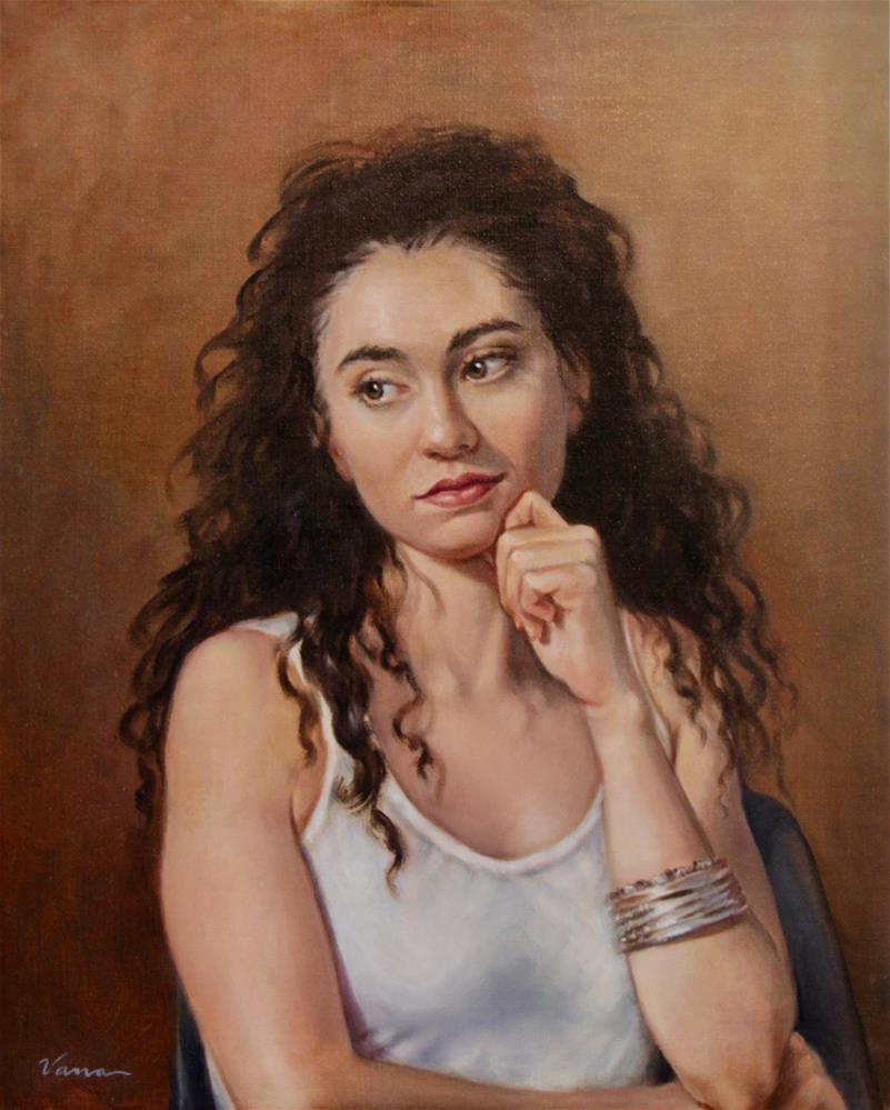 """Portrait of Marielle"" original fine art by Vana Meyers"