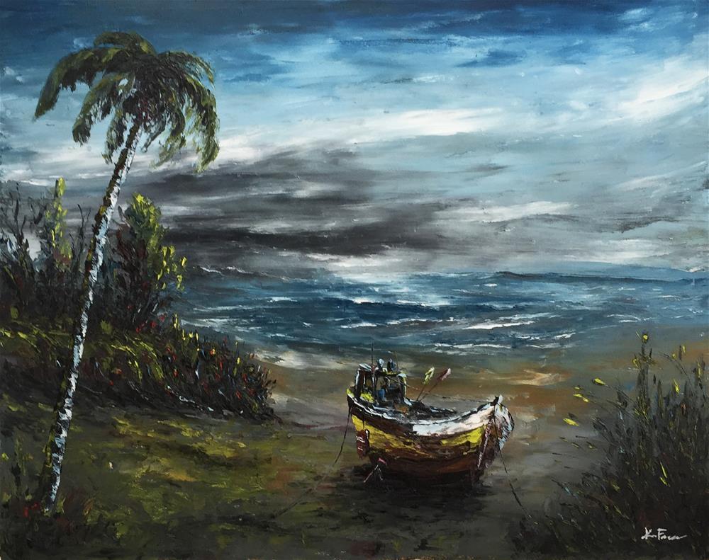 """""""Stranded 4"""" original fine art by Ken Fraser"""