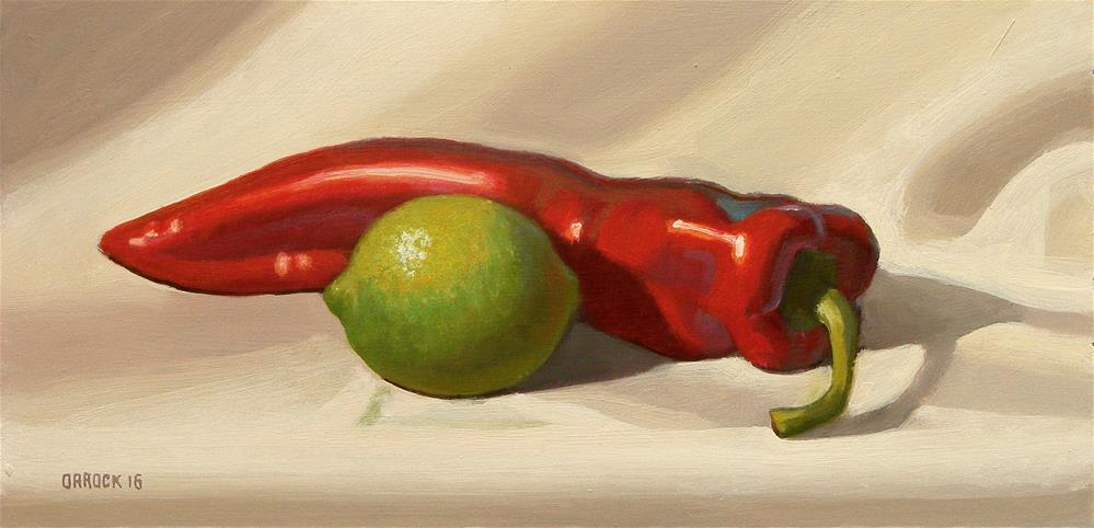 """""""Lime and pepper"""" original fine art by Peter Orrock"""