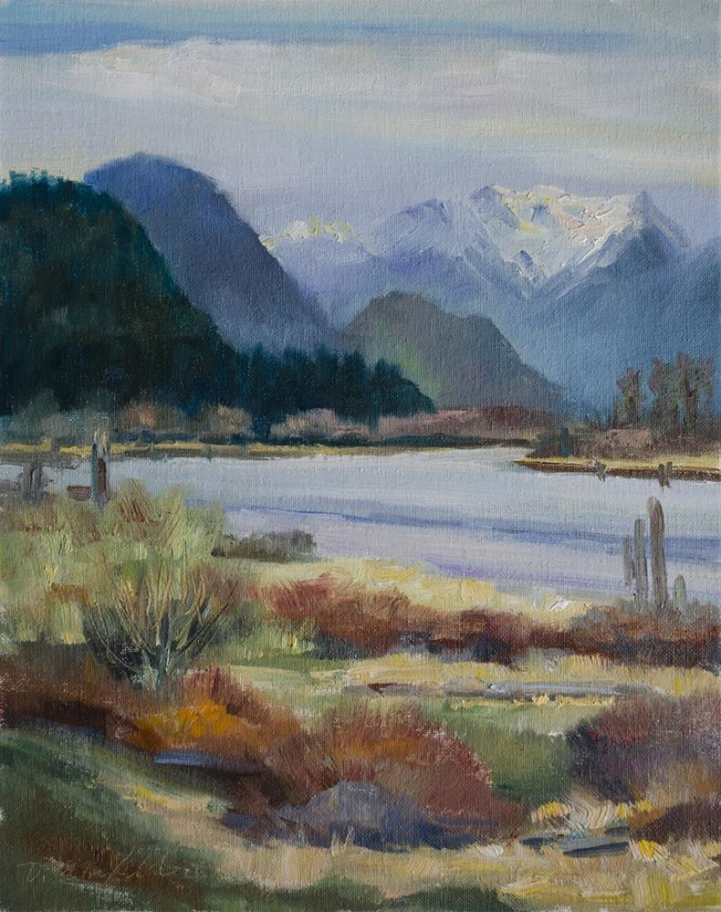 """Early Spring on the Rivers Edge"" original fine art by Denise Maxwell"