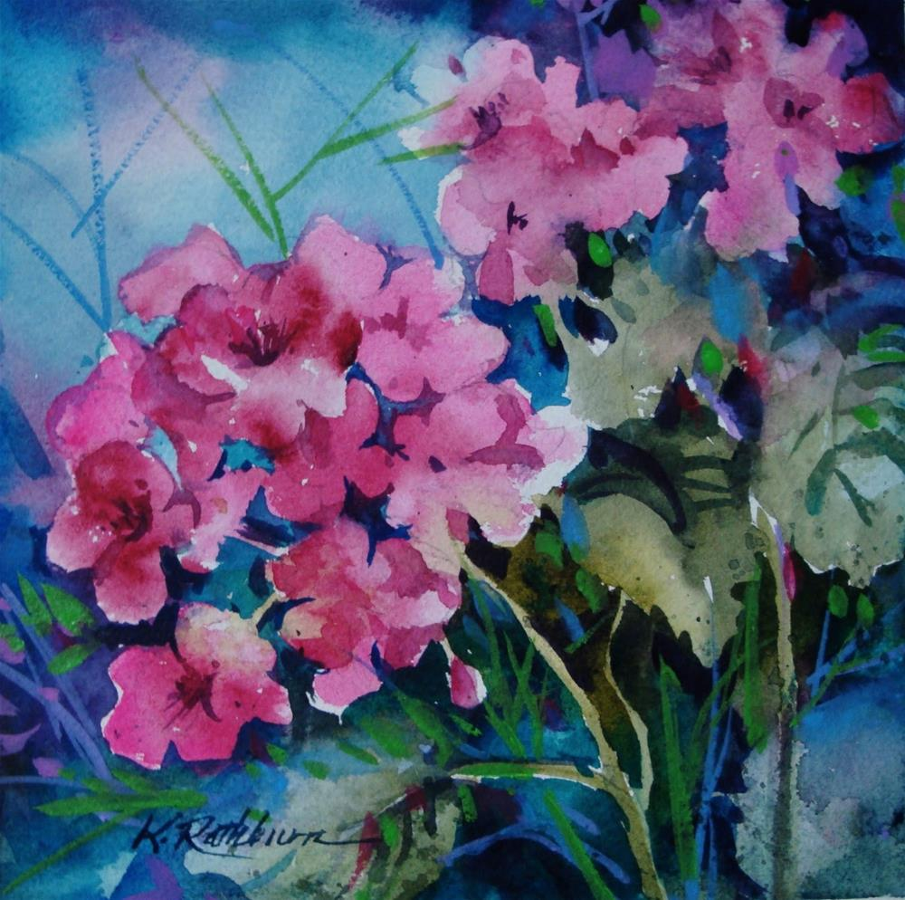 """Geraniums"" original fine art by Kathy Los-Rathburn"