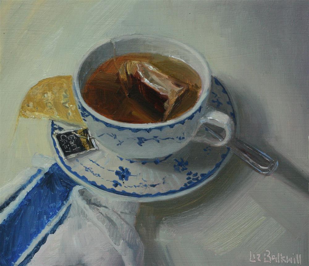 """Earl Grey Tea"" original fine art by Liz Balkwill"