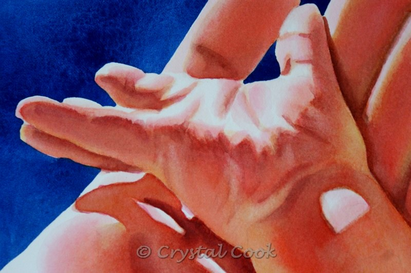 """""""First Touch"""" original fine art by Crystal Cook"""