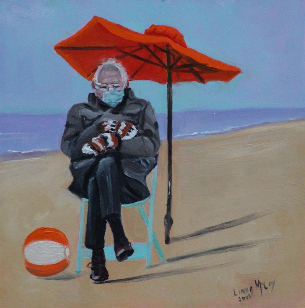 """Feel the Bern"" original fine art by Linda McCoy"