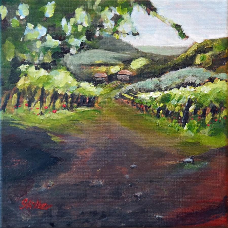 """1743 Hills of Le Volpi"" original fine art by Dietmar Stiller"