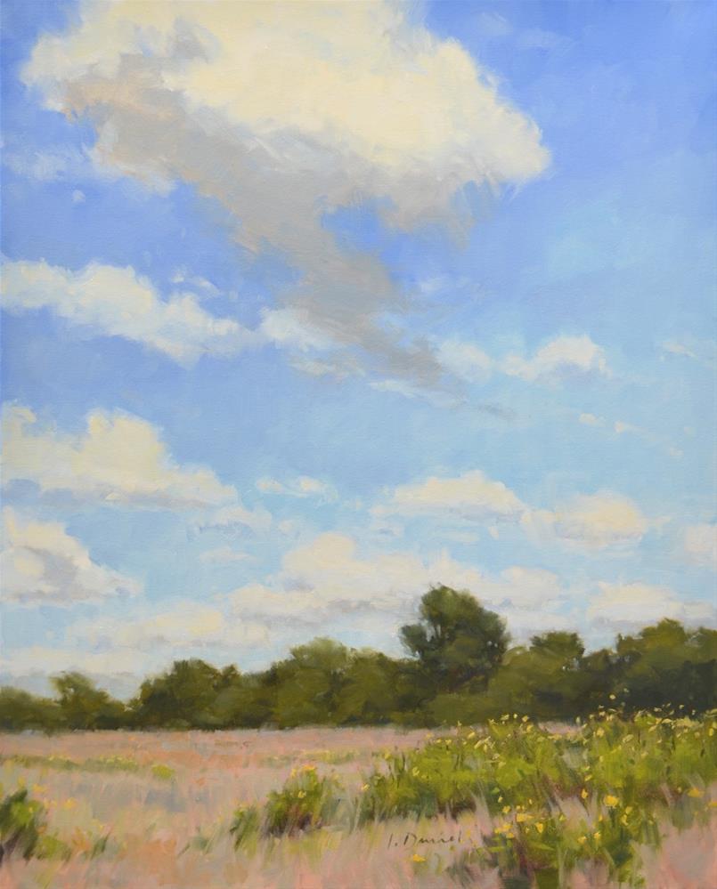 """Scattered Clouds - Exhibit at Davis Gallery"" original fine art by Laurel Daniel"