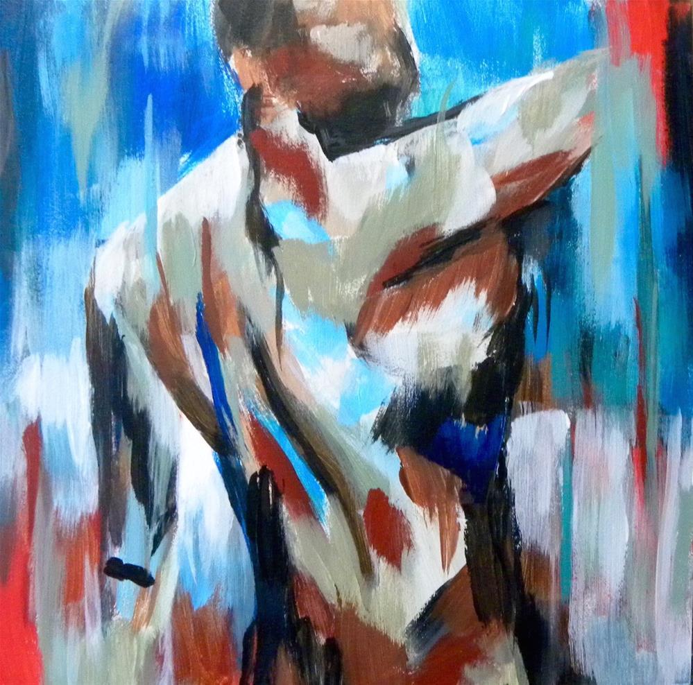 """Male Torso"" original fine art by cheryl buhrman"