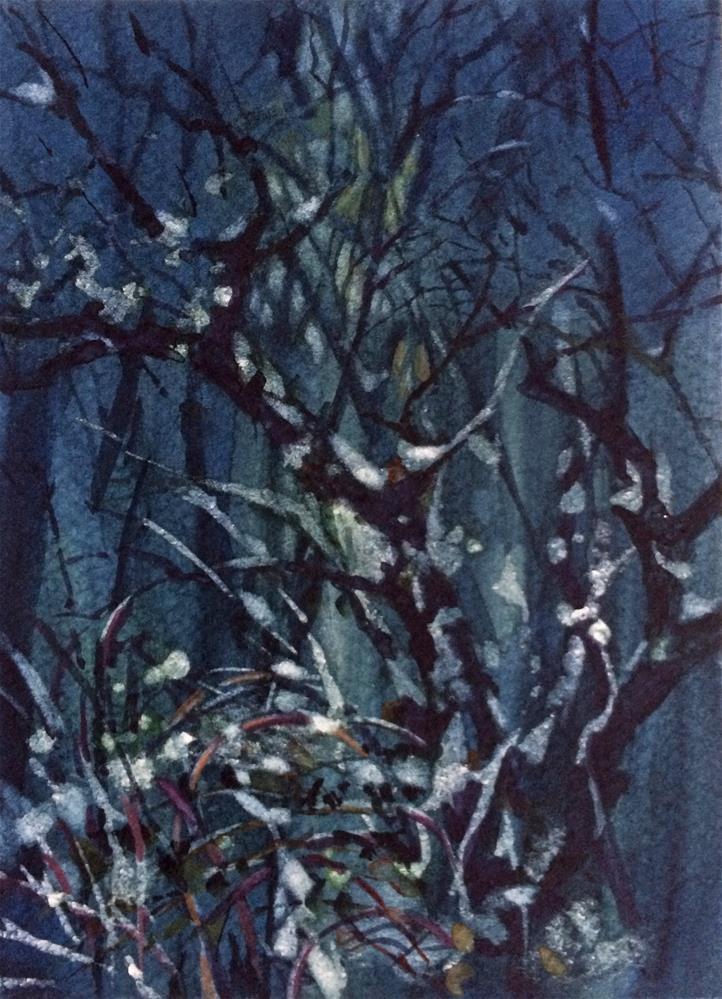 """""""c Forest Blue"""" original fine art by Nicoletta Baumeister"""