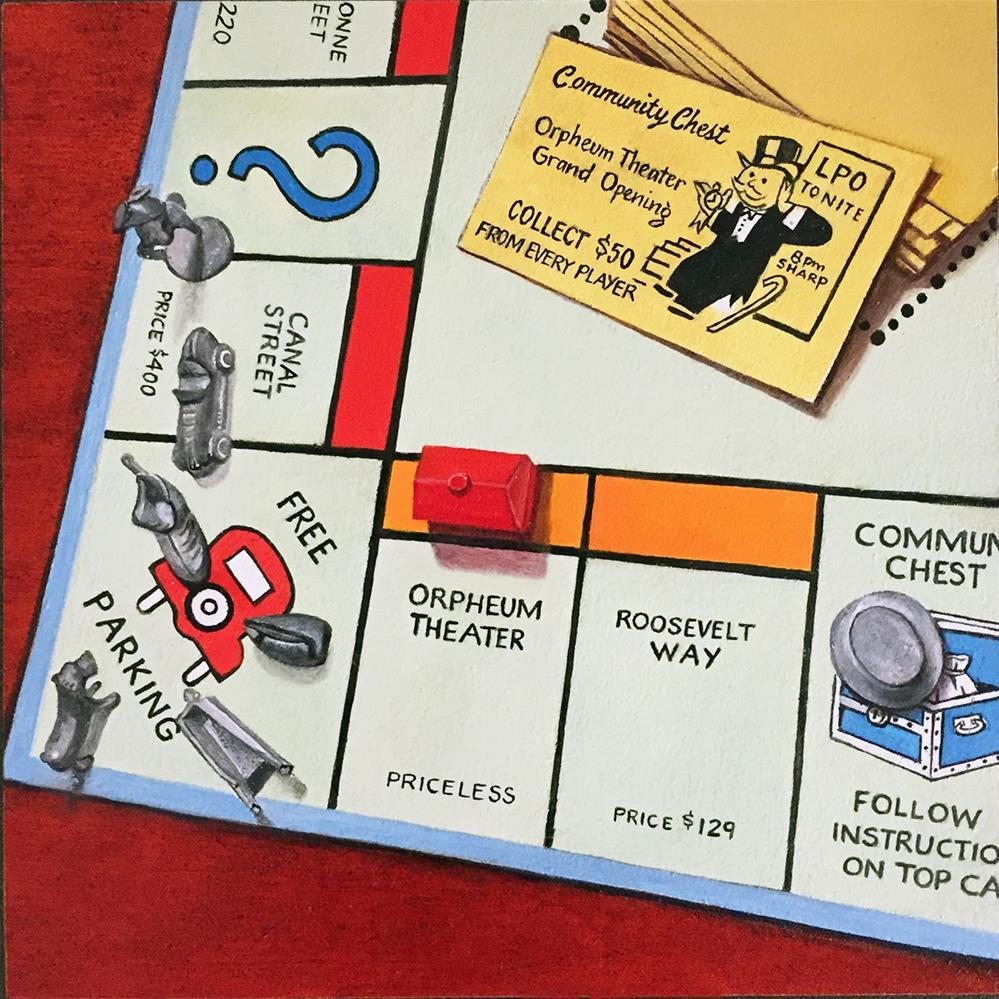 """NOLA Monopoly #2"" original fine art by Patti Adams"