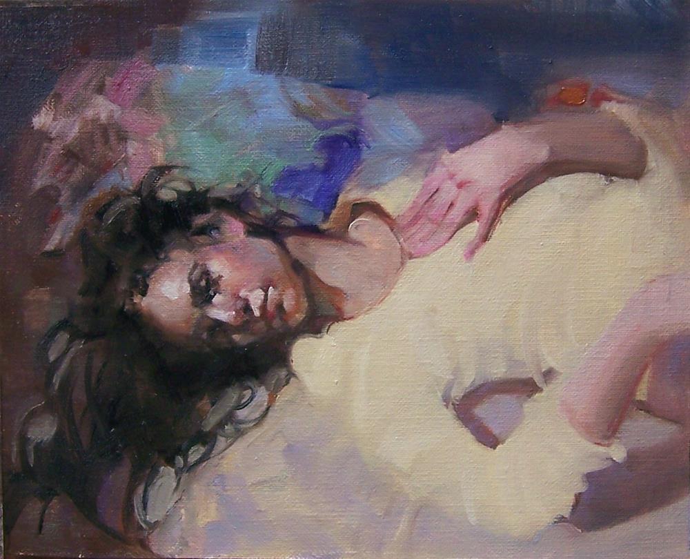 """Grace Sleeping"" original fine art by Kim Roberti"
