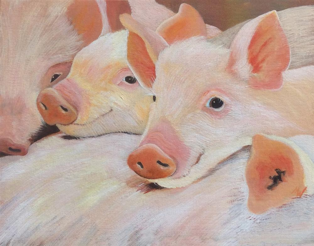"""Waiting on breakfast"" original fine art by Michelle Wolfe"