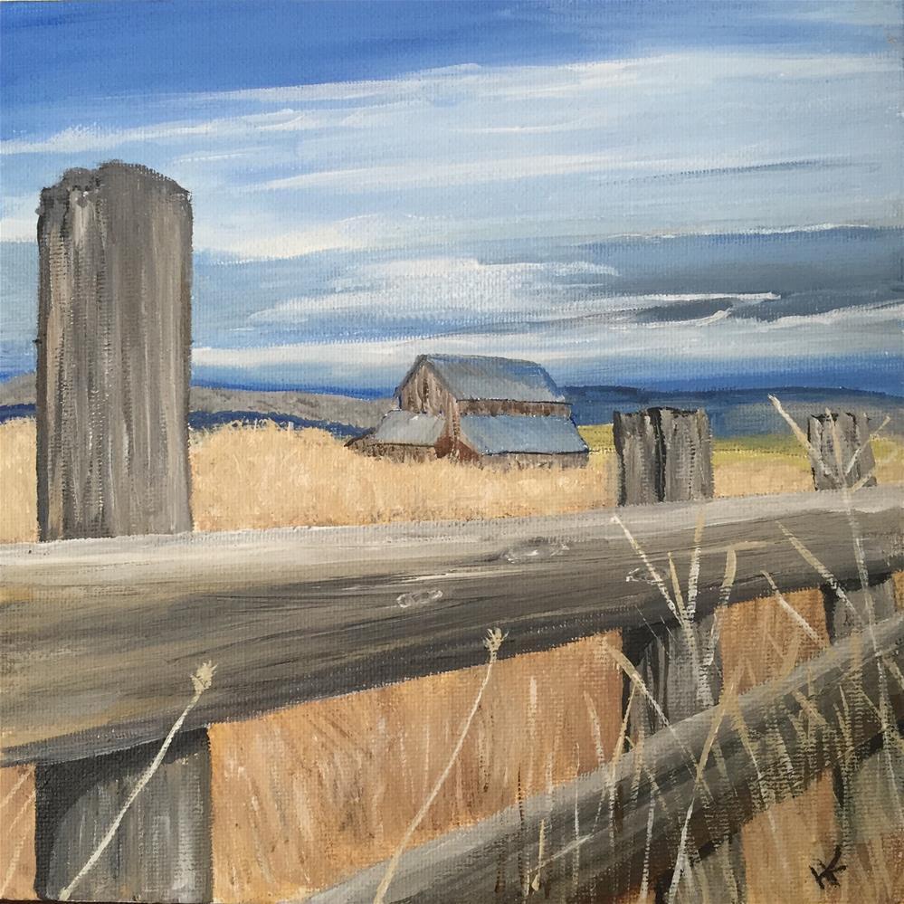"""""""Fenced In II"""" original fine art by Helen Kuhn"""